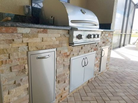 Custom Barbecue Island by Elegant Outdoor Kitchens of Fort Myers Florida